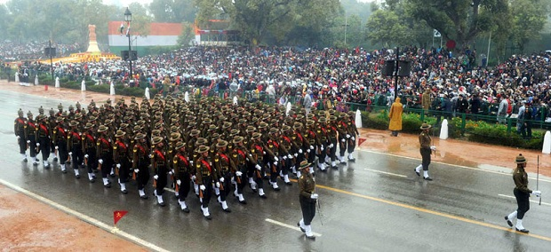 Kumaon Regiment marching republic day