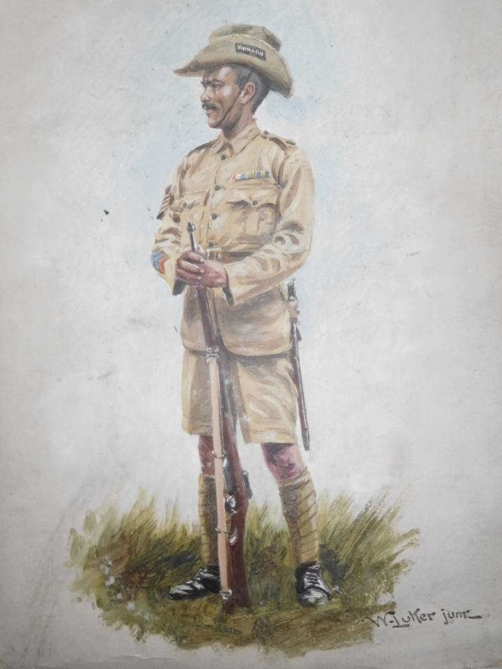 British era Kumaoni soldier