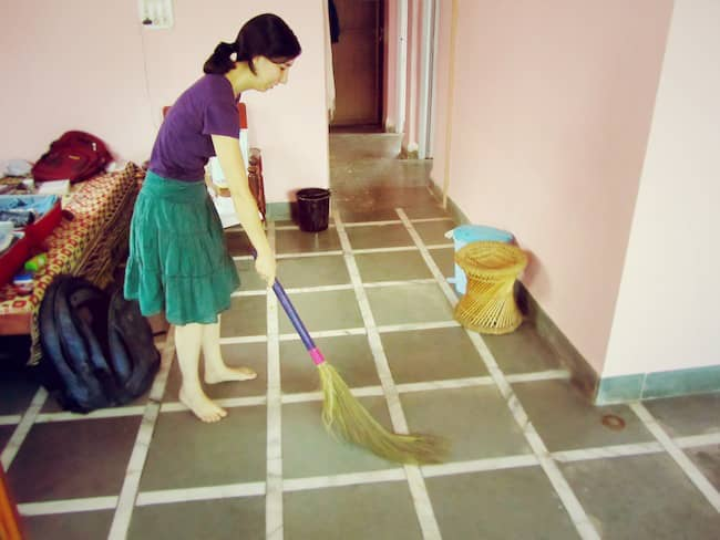 Image result for superstitions in  india sweeping after sunset