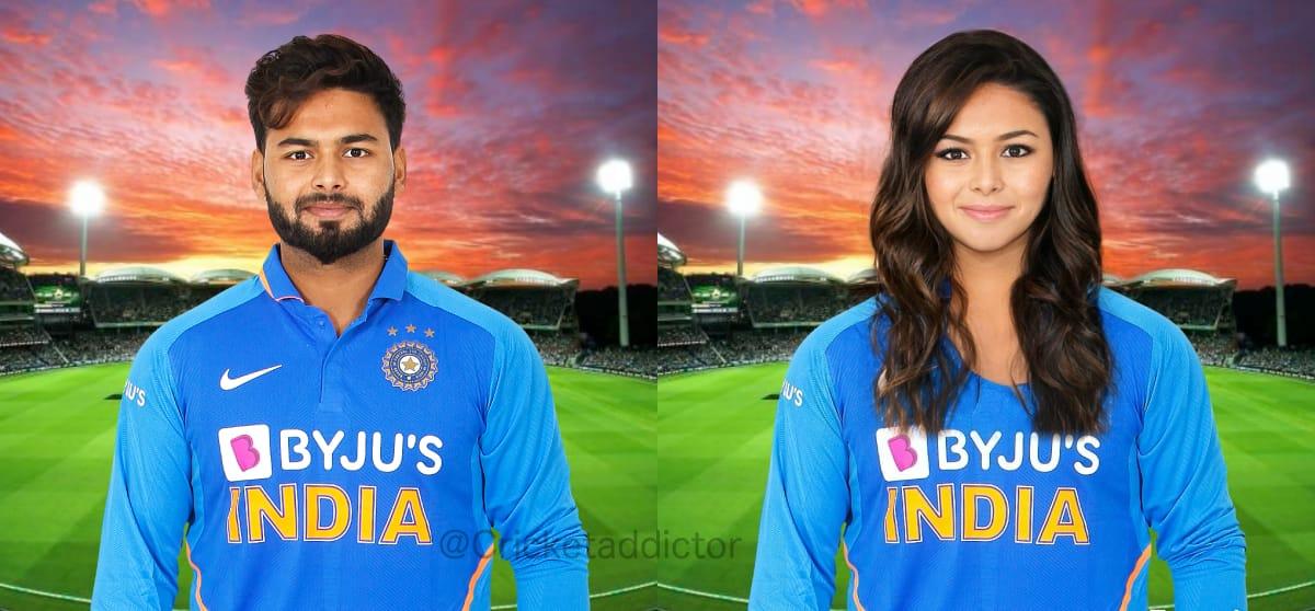 Indian Cricketers Female Version- rishabh_pant