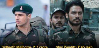 Shershaah Star Cast salary